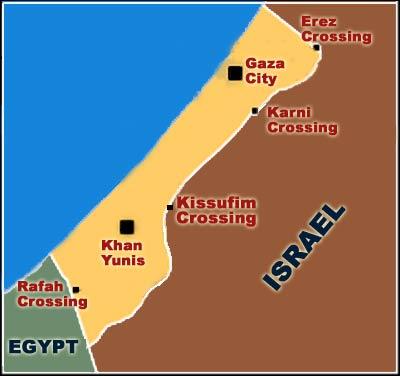 نقشه غزه